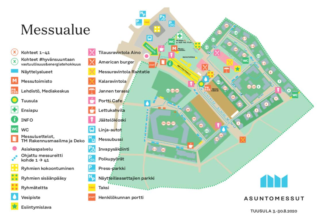 Asuntomessut kartta